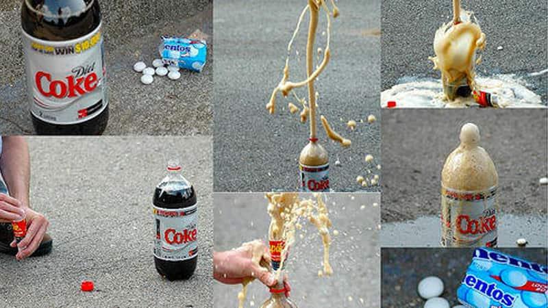 Diet Coke + Mentos