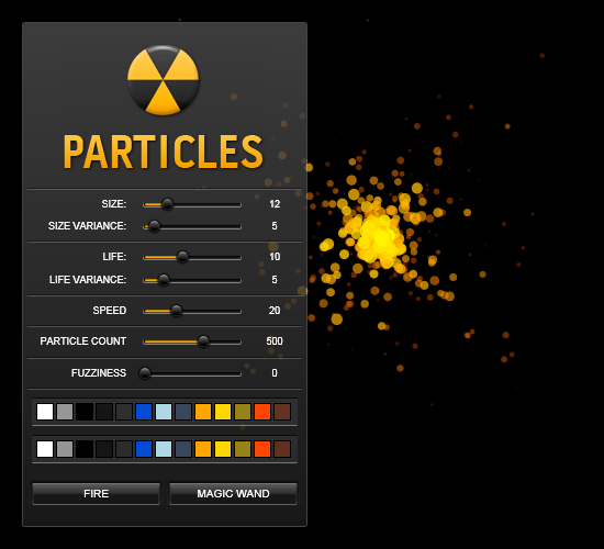 Silverlight Particle Generator